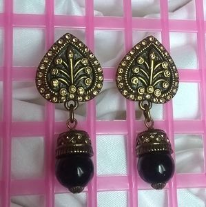 HEIDI DAUS PIERCED EARRINGS SIGNED
